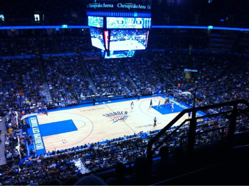 Seating view for Chesapeake Energy Arena Section 310 Row E Seat 10