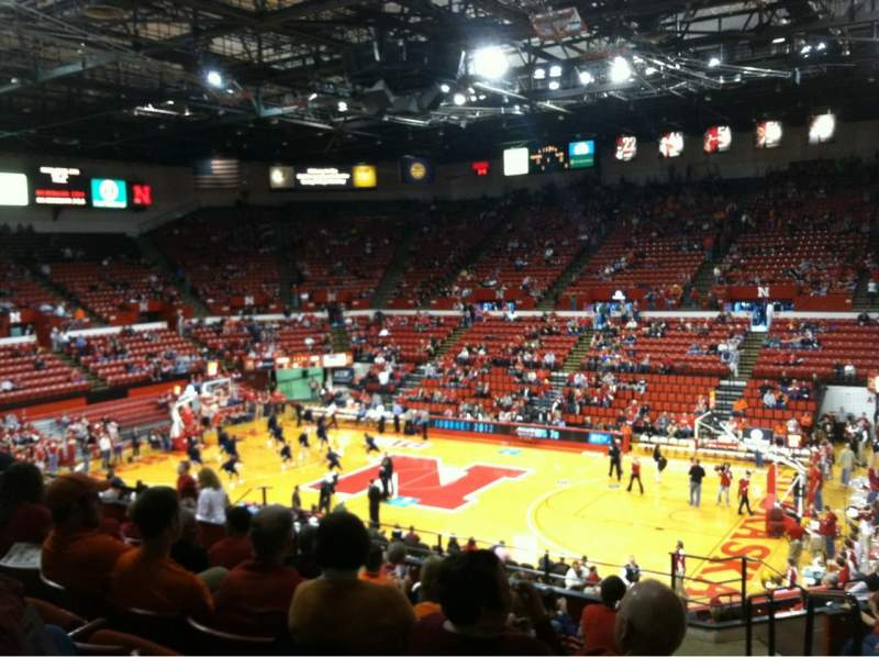 Seating view for Bob Devaney Sports Center Section C10 Row 19