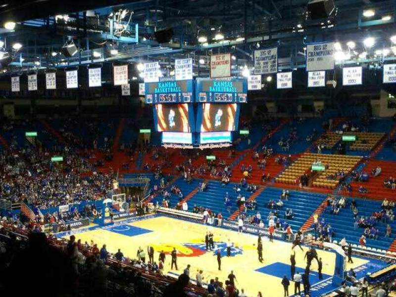 Seating view for Allen Fieldhouse Section 3
