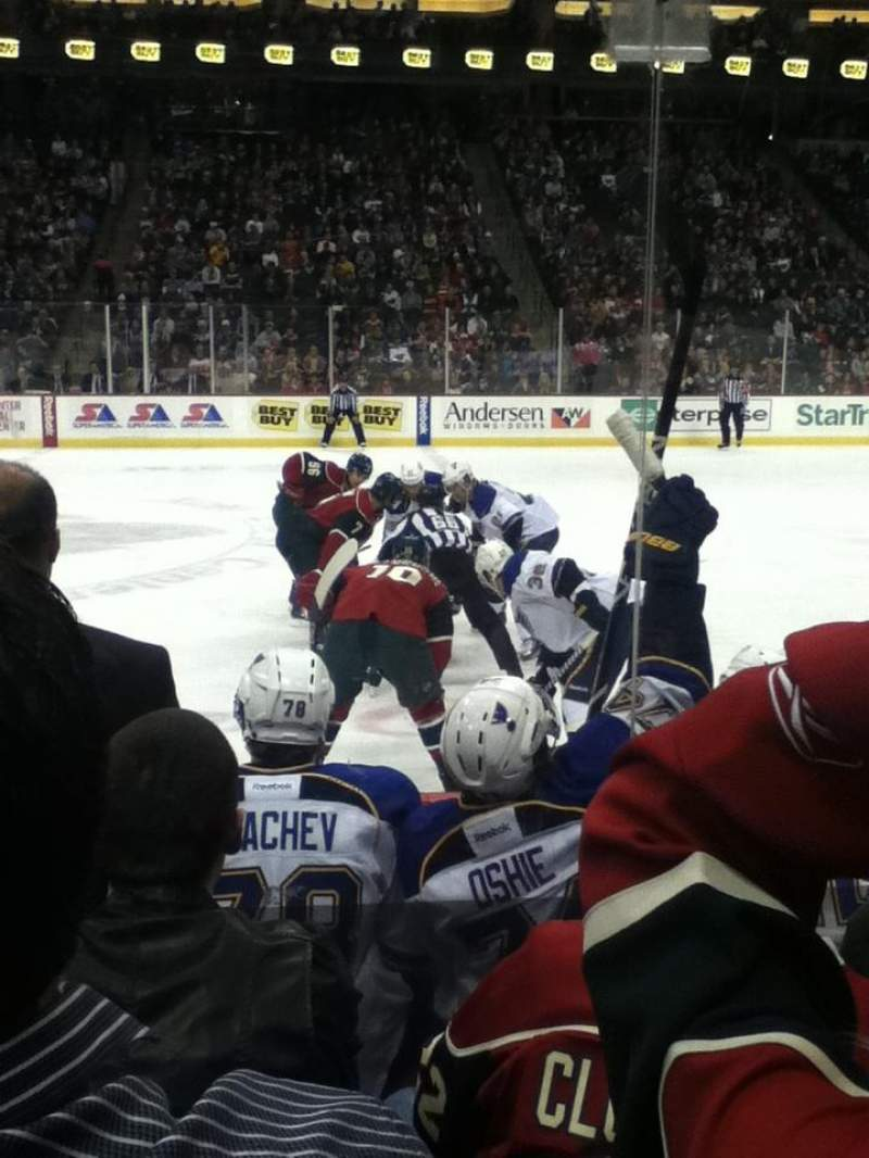 Seating view for Xcel Energy Center Section 116 Row 5 Seat 4