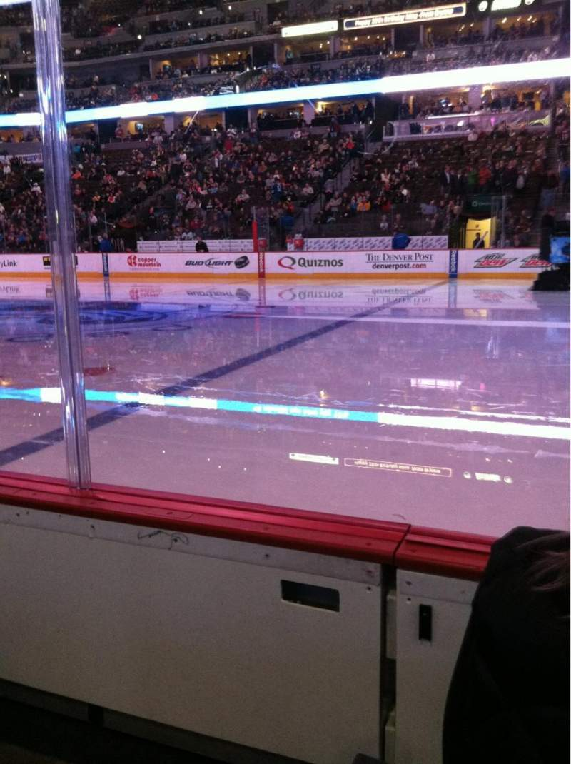 Seating view for Pepsi Center Section 148 Row 1 Seat 17