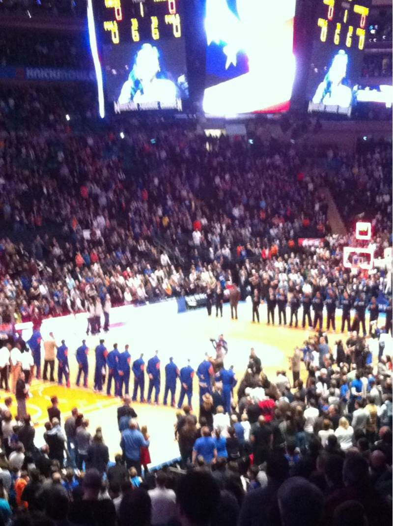 Seating view for Madison Square Garden Section 114 Row 20 Seat 13
