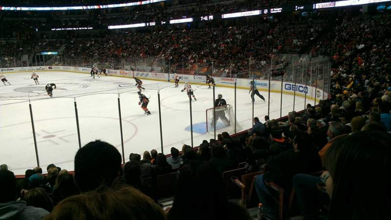 Seating view for Honda Center Section 203 Row m Seat 2