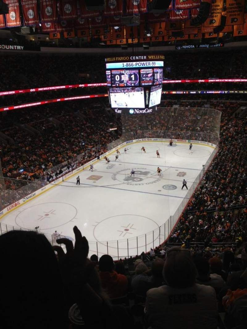 Seating view for Wells Fargo Center Section 209 Row 8 Seat 5