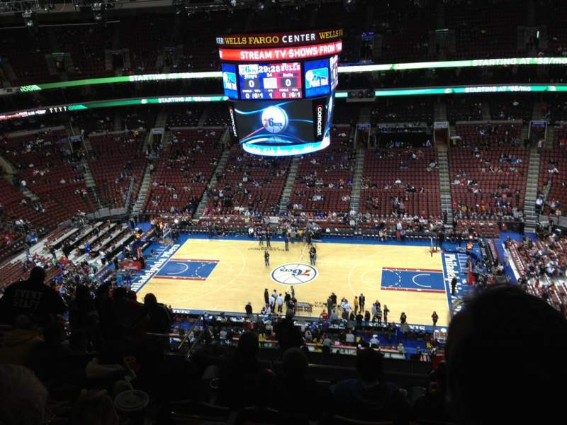 Seating view for Wells Fargo Center Section 202 Row 13 Seat 12