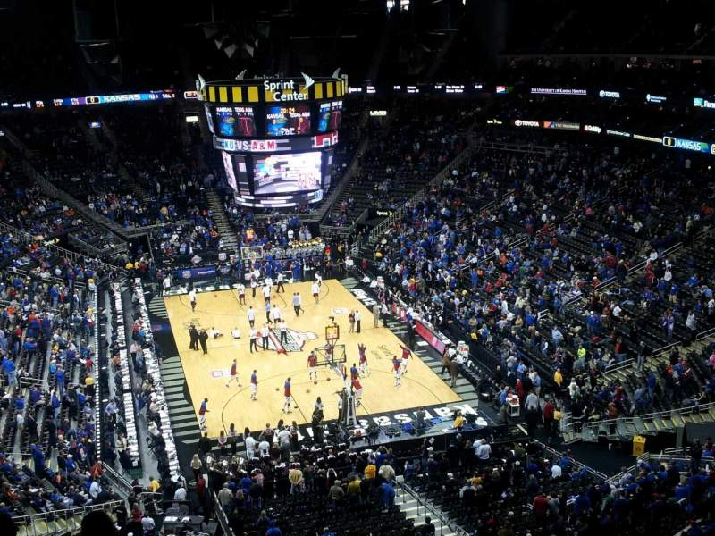 Seating view for Sprint Center Section 217 Row 10 Seat 23