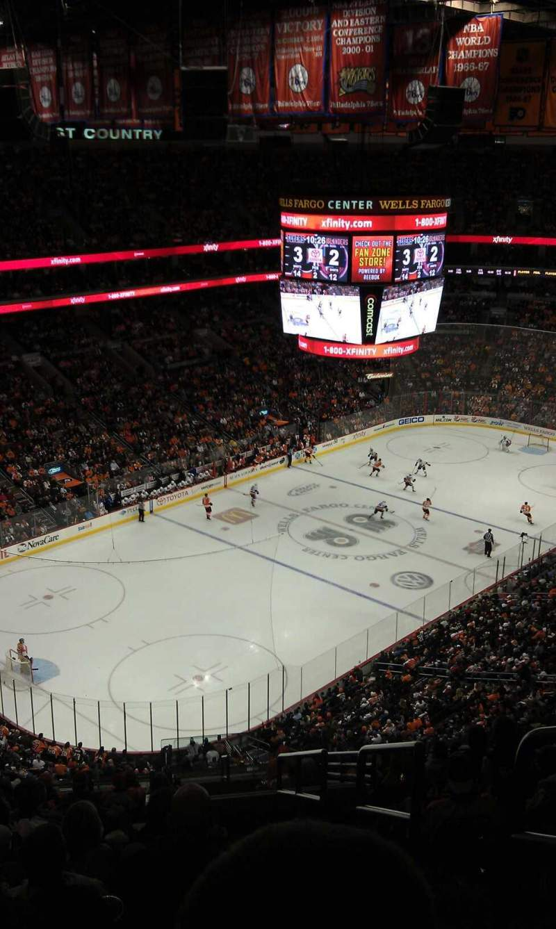 Seating view for Wells Fargo Center Section 209A Row 15 Seat 20