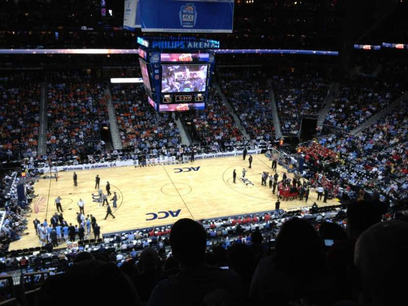 Seating view for Philips Arena Section 311 Row K Seat 20