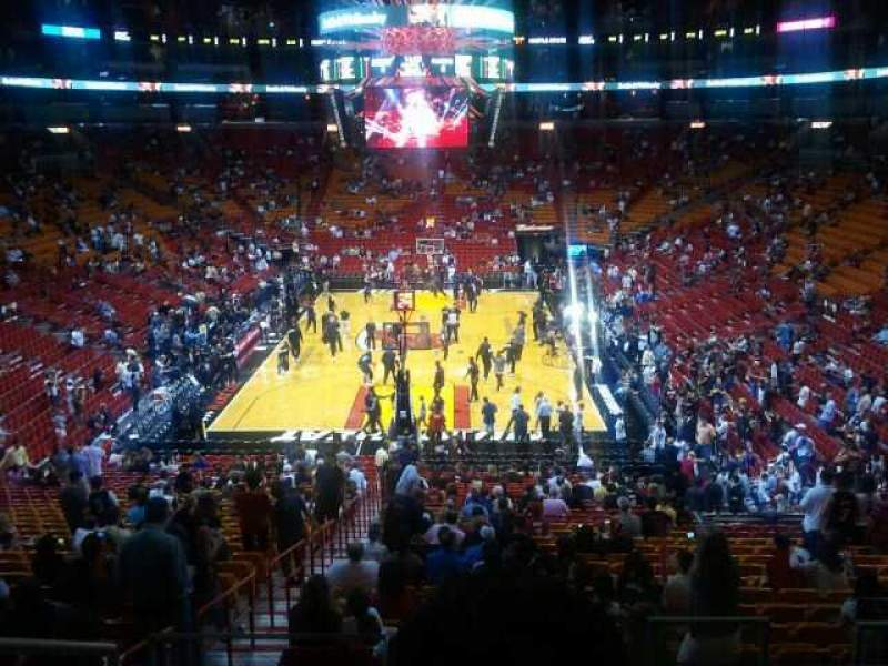 Seating view for American Airlines Arena Section 124 Row 35 Seat 15