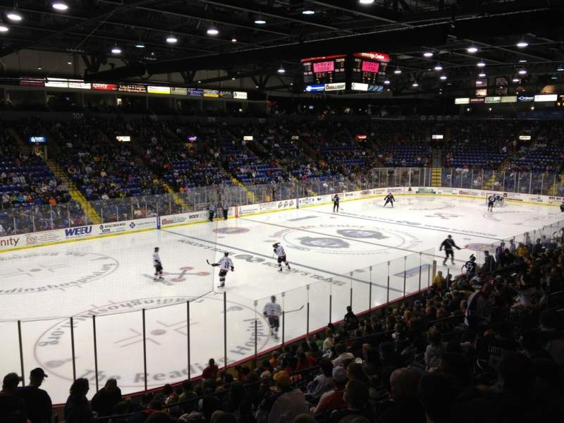 Seating view for Santander Arena Section 120 Row T