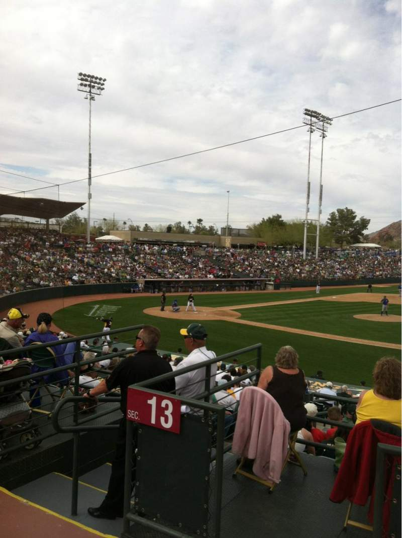 Seating view for Phoenix Municipal Stadium Section SRO