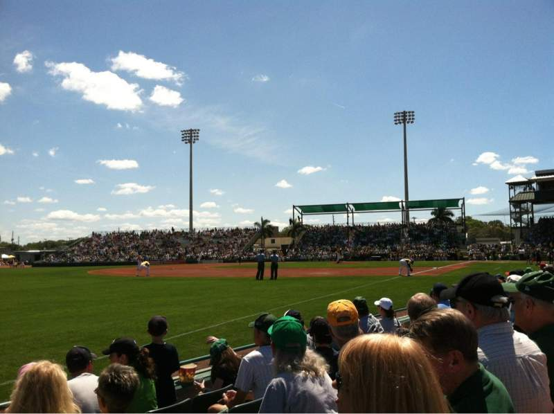 Seating view for LECOM Park Section Box 19 Row 5 Seat 17