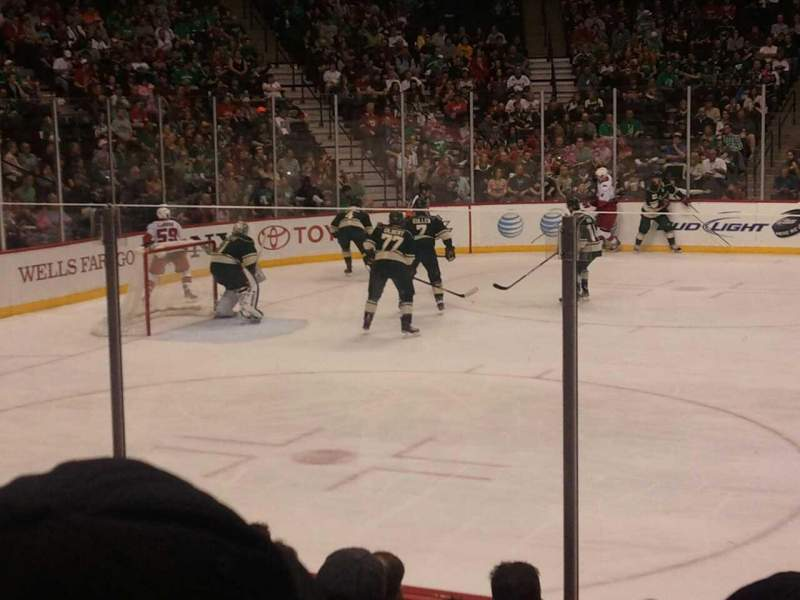 Seating view for Xcel Energy Center Section 118 Row 8 Seat 4