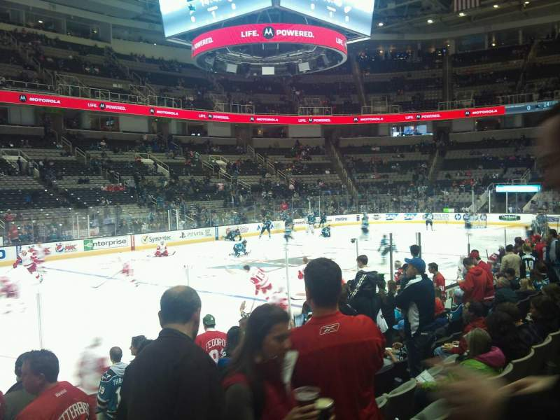 Seating view for SAP Center at San Jose Section 103 Row 9 Seat 2