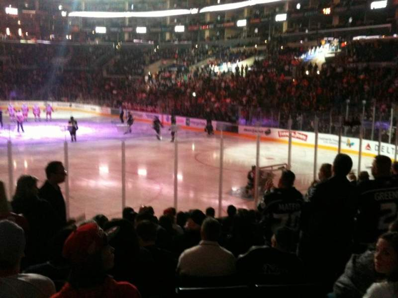 Seating view for Staples Center Section 107 Row 14 Seat 25
