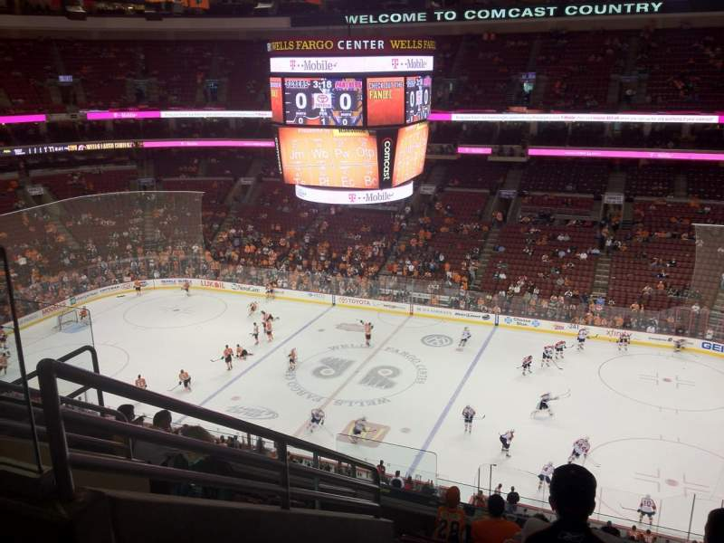 Seating view for Wells Fargo Center Section 203 Row 9 Seat 4