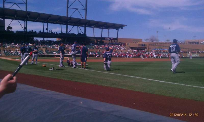 Seating view for Salt River Fields Section 101 Row 1 Seat 14