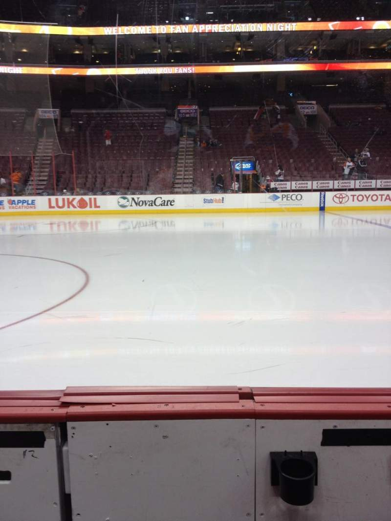Seating view for Wells Fargo Center Section 112 Row 2 Seat 1