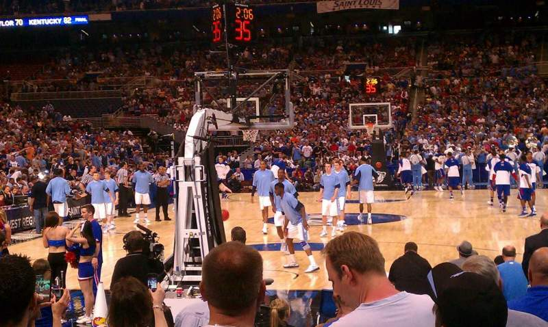 The Dome at America's Center, section: 137F, row: 12, seat: 8