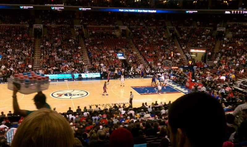 Seating view for Wells Fargo Center Section Club Box 13 Row 1 Seat 4