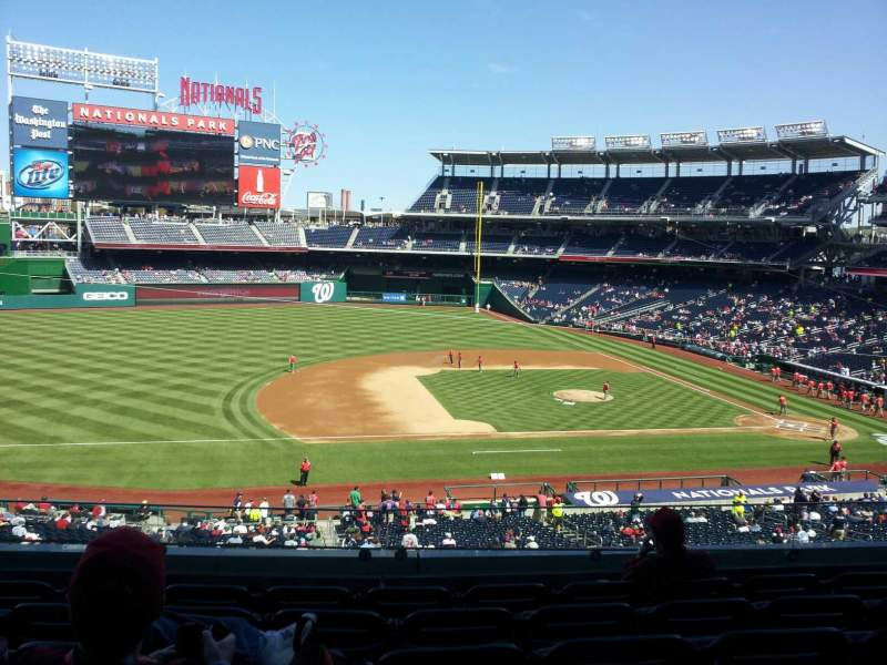 Seating view for Nationals Park Section 207 Row F Seat 12