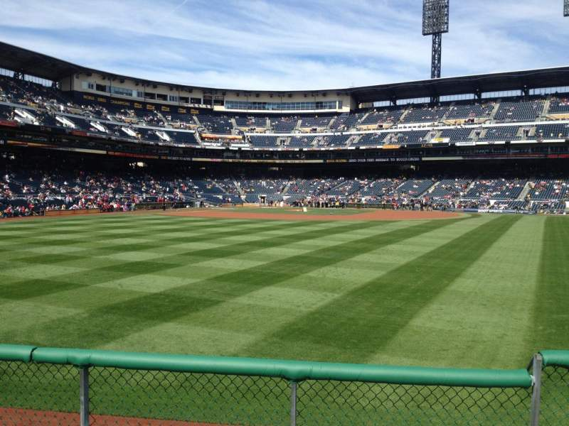 Seating view for PNC Park Section 141 Row D Seat 4