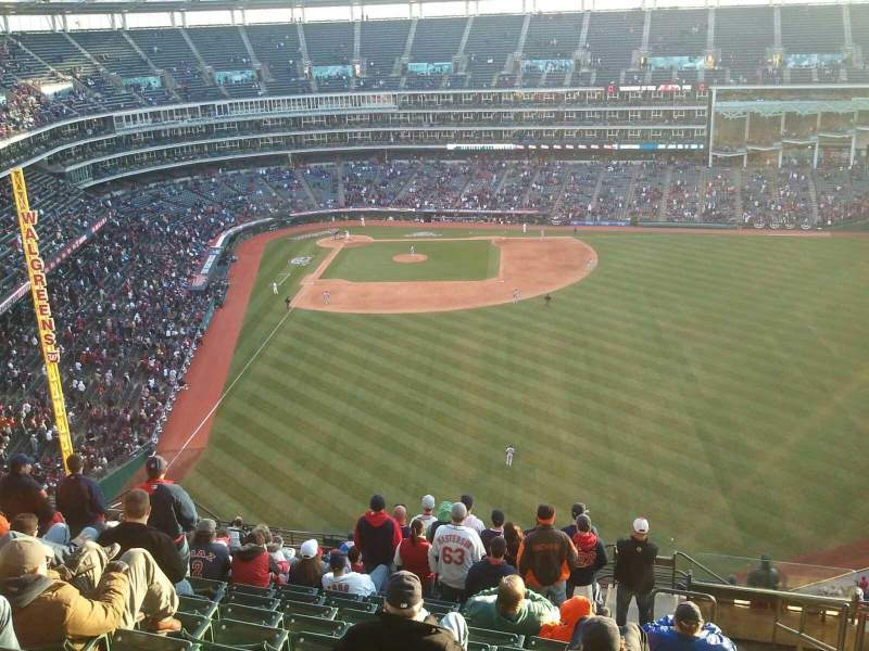 Seating view for Progressive Field Section 509 Row T Seat 1