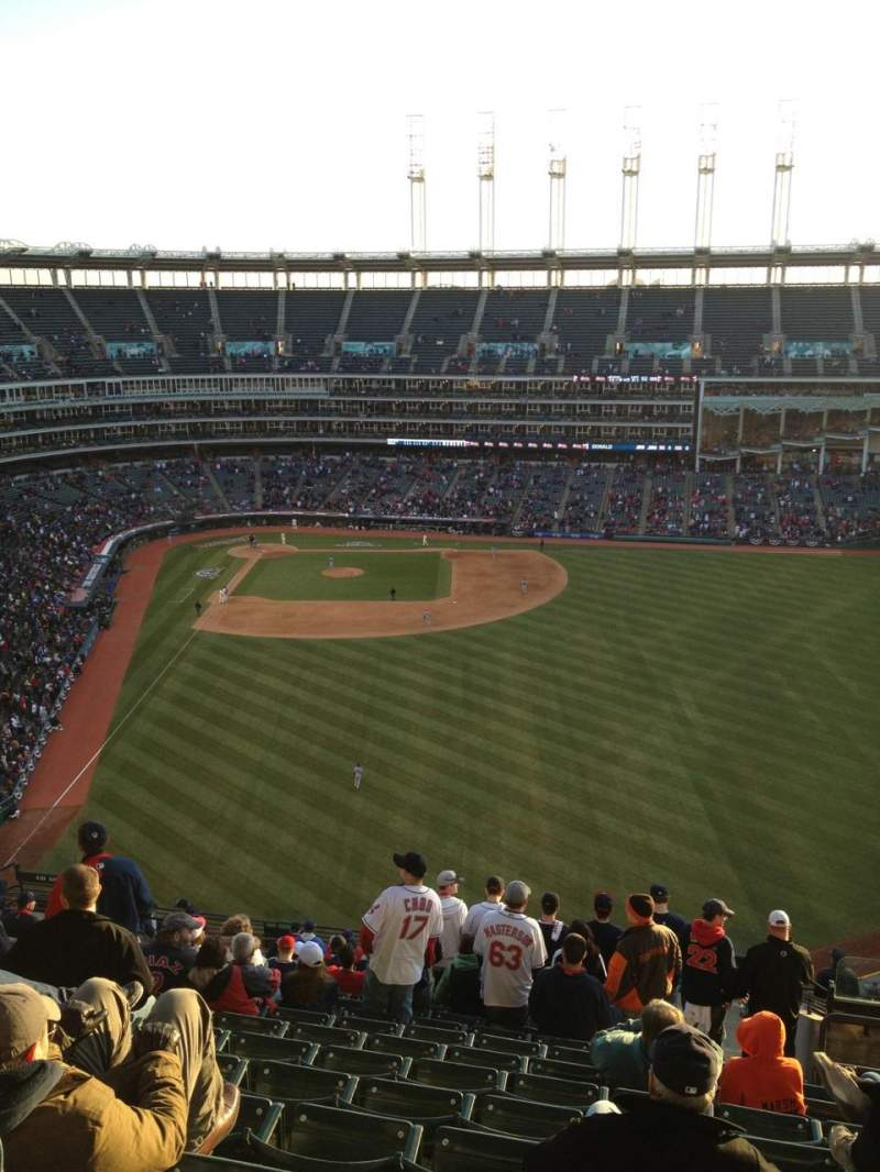Seating view for Progressive Field Section 509 Row S Seat 4