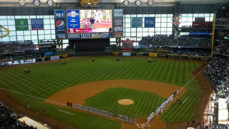 Seating view for Miller Park Section 424 Row 9 Seat 11