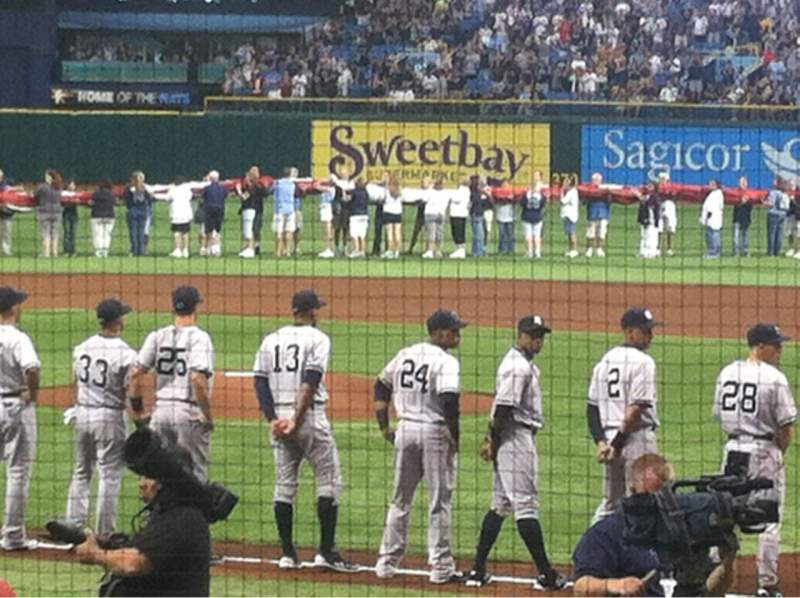 Seating view for Tropicana Field Section 105 Row J Seat 3