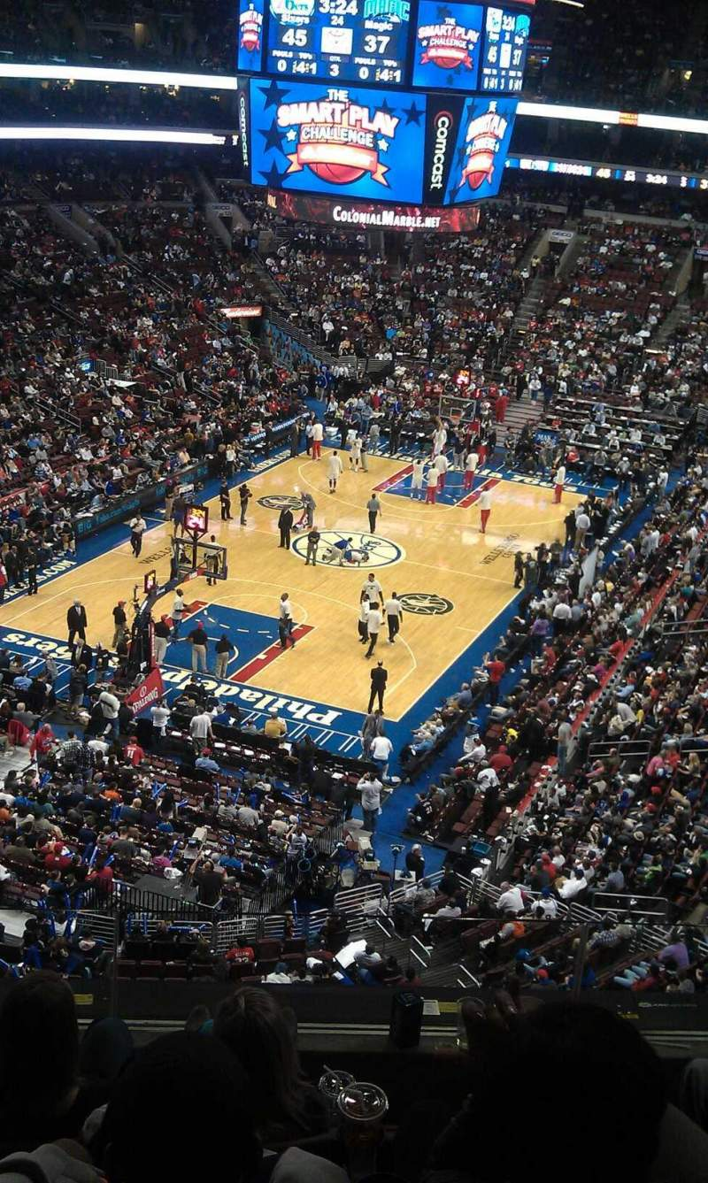 Seating view for Wells Fargo Center Section 209 Row 6 Seat 3