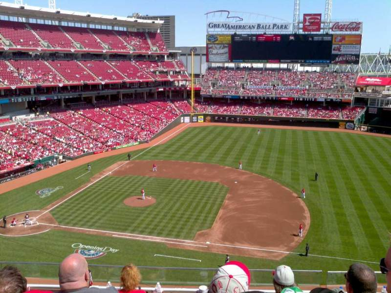 Seating view for Great American Ball Park Section 431 Row E Seat 13