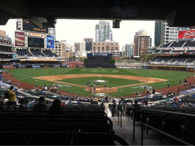 Seating view for PETCO Park Section 102 Row 16 Seat 1