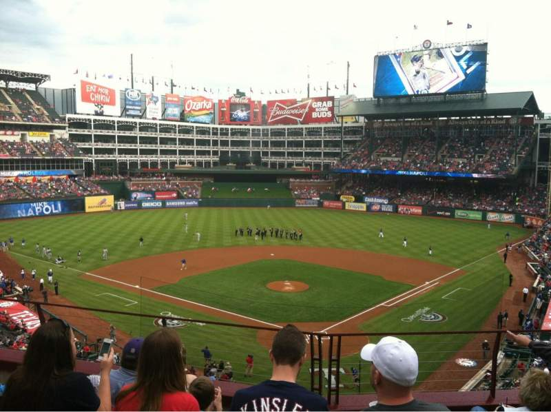 Seating view for Globe Life Park in Arlington Section 225 Row 4 Seat 8