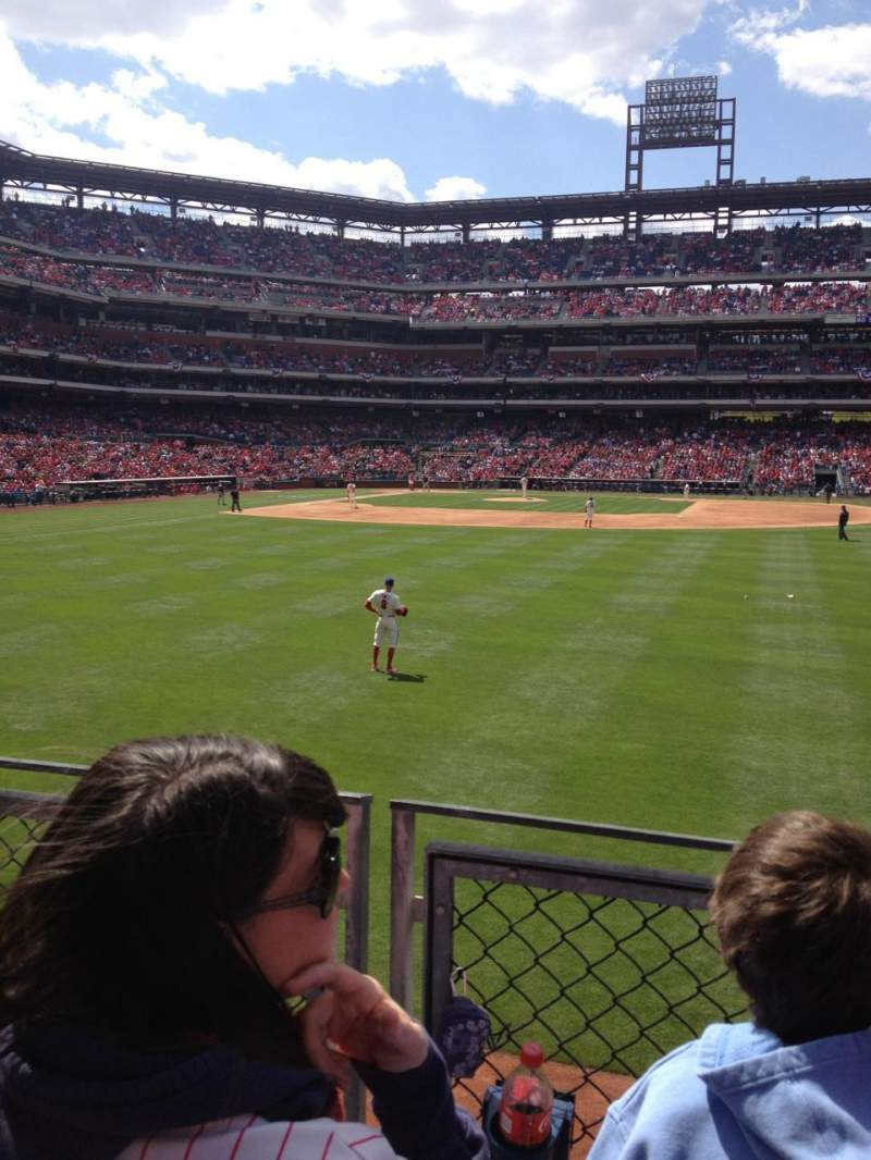 Seating view for Citizens Bank Park Section 104 Row 2 Seat 3