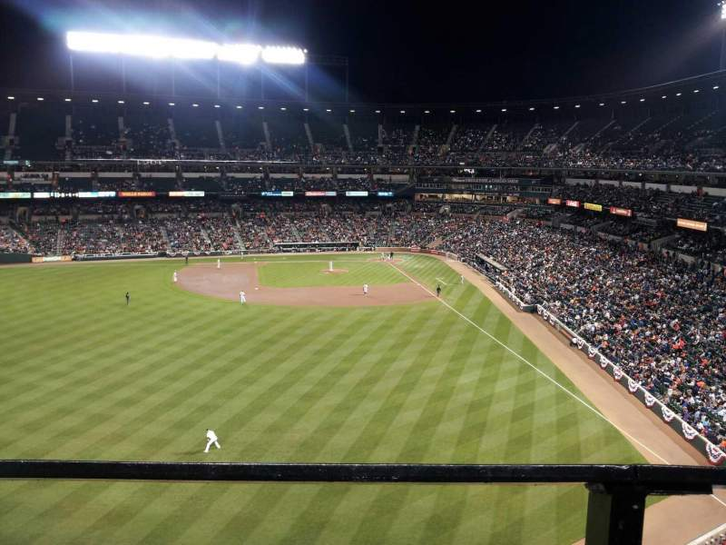 Seating view for Oriole Park at Camden Yards Section 384 Row 1 Seat 12