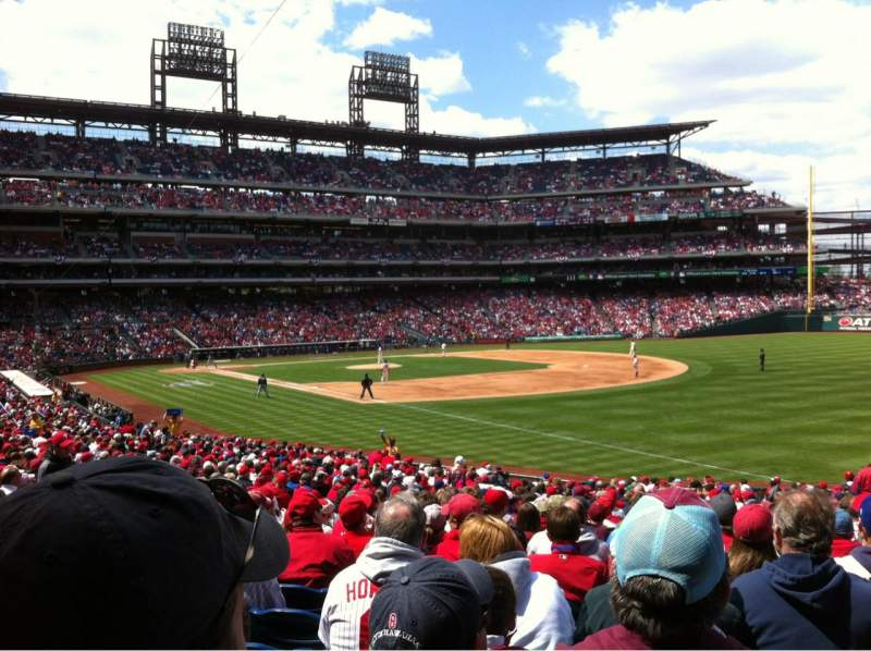 Seating view for Citizens Bank Park Section 110 Row 31 Seat 7