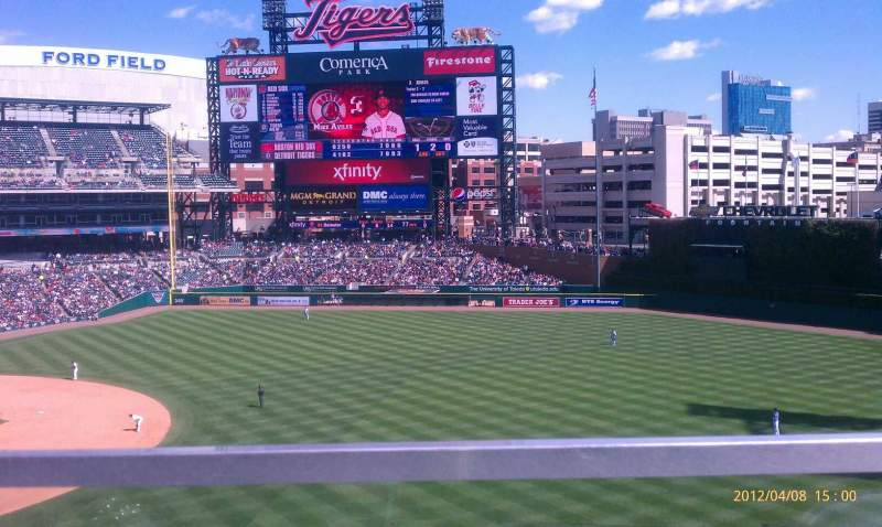 Seating view for Comerica Park Section 216 Row A Seat 19,20