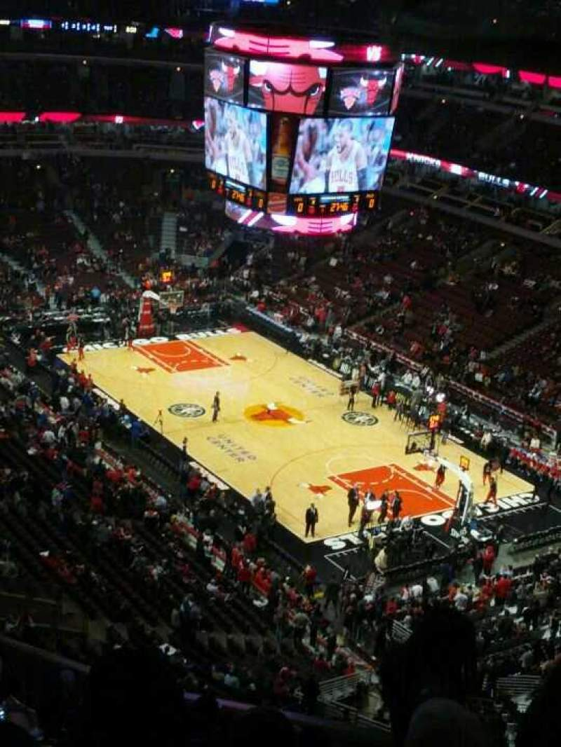 Seating view for United Center Section 313 Row 16 Seat 1