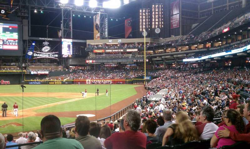 Seating view for Chase Field Section 121