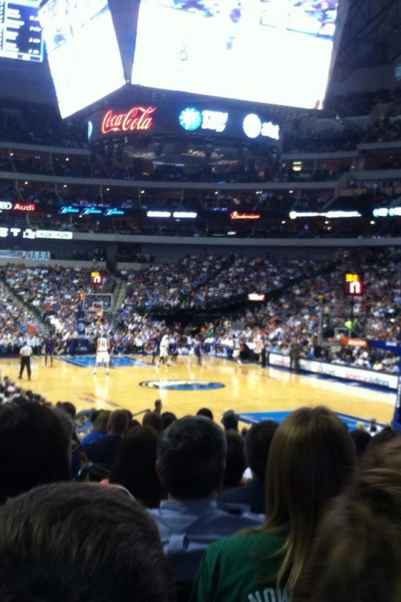 Seating view for American Airlines Center Section 102 Row n Seat 11