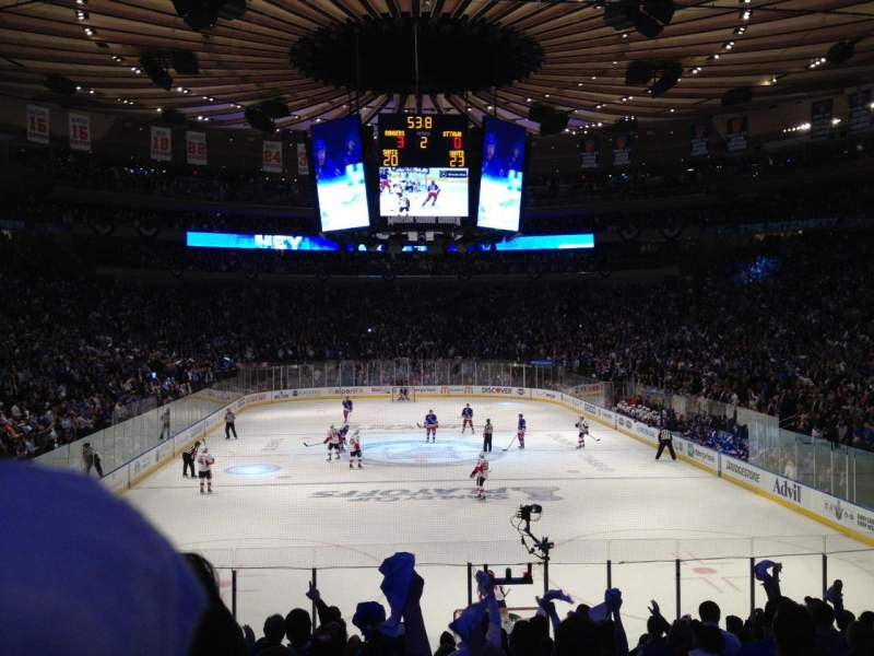Seating view for Madison Square Garden Section 102 Row 14 Seat 6