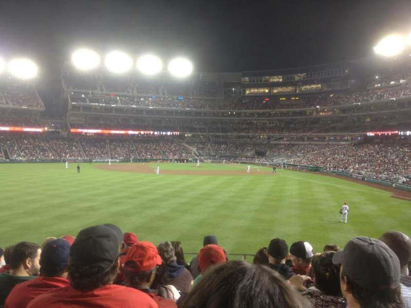 Seating view for Nationals Park Section 102 Row T Seat 17