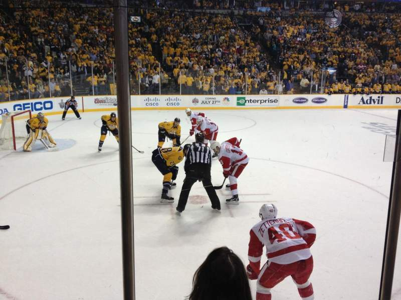 Seating view for Bridgestone Arena Section 103 Row DD Seat 1