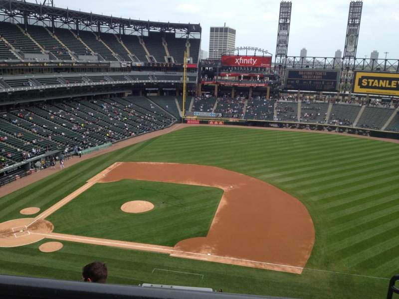 Seating view for Guaranteed Rate Field Section 524 Row 4 Seat 1