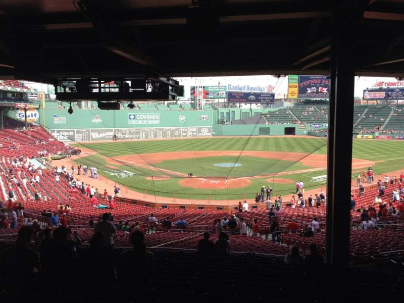 Seating view for Fenway Park Section Grandstand 20 Row 15 Seat 10