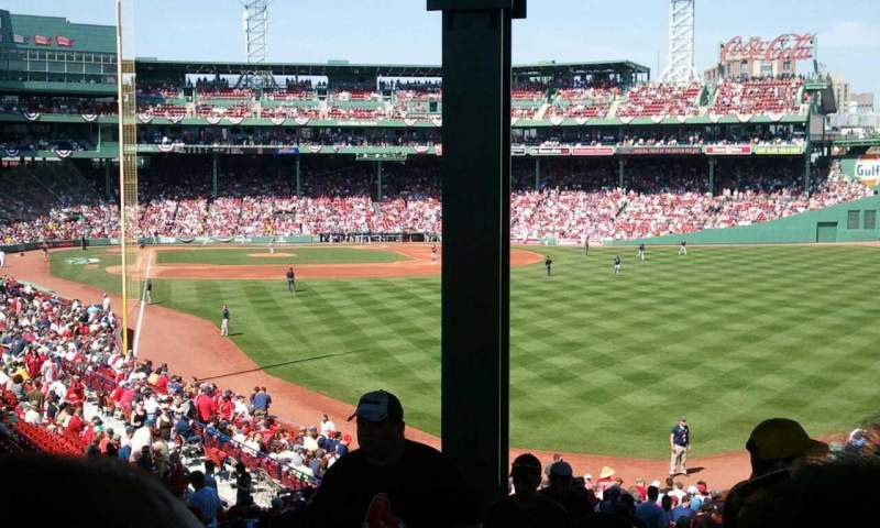 Seating view for Fenway Park Section Grandstand 3 Row 11 Seat 31