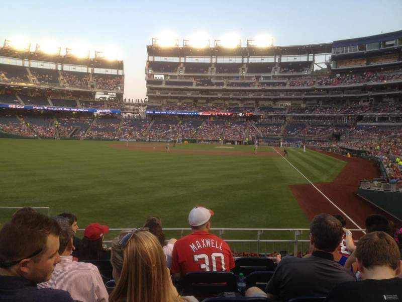 Seating view for Nationals Park Section 106 Row F Seat 15
