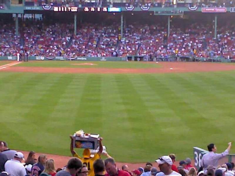 Seating view for Fenway Park Section Right Field Box 88 Row SS Seat 14
