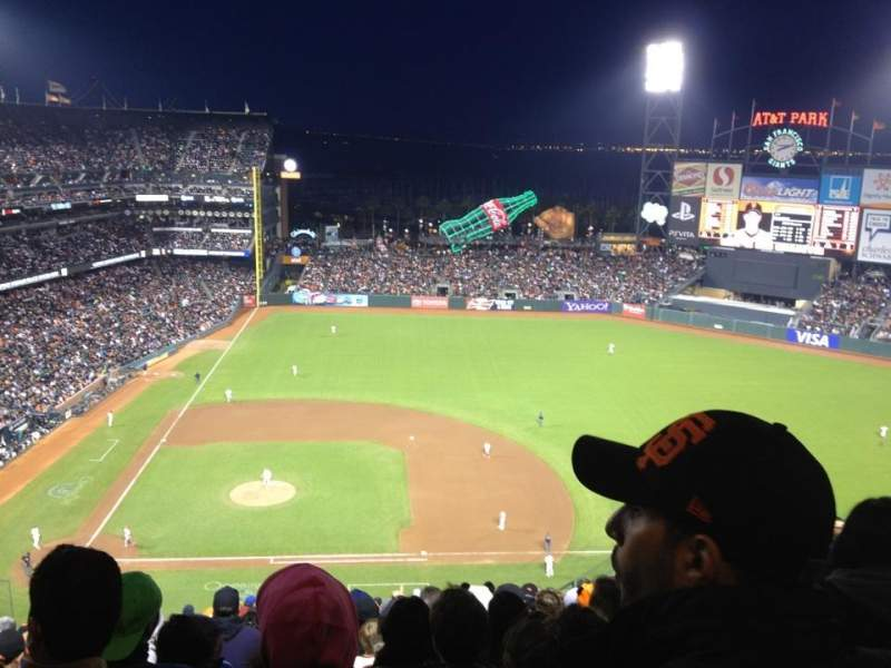 Seating view for AT&T Park Section 308 Row 14 Seat 10